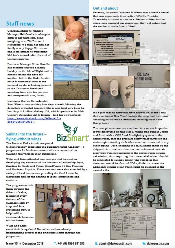 Duke Austin Newsletter Dec 2019